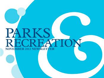 parks and recreations leaflet design